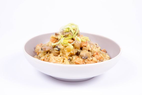 Rissotto and mushrooms
